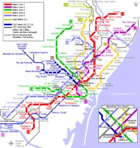 Схема метро Барселона